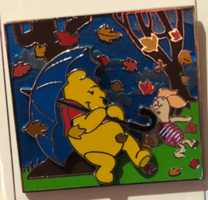 Pooh and Piglet during a Blustery Day pin