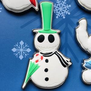 Jack Skellington Snowman pin