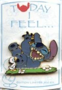 Today I Feel...Happy - Stitch pin