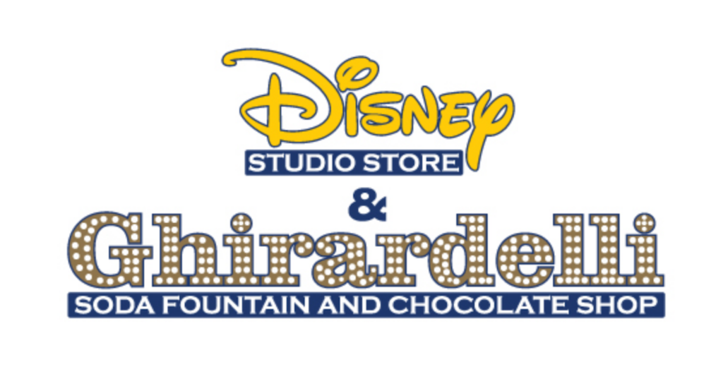 The Disney Studio Store and Ghirardelli logo