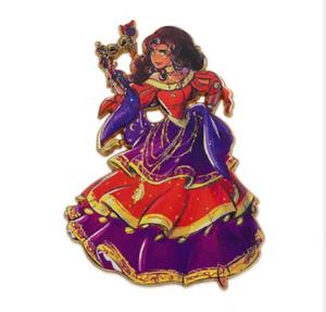 Esmeralda Designer Masquerade  pin
