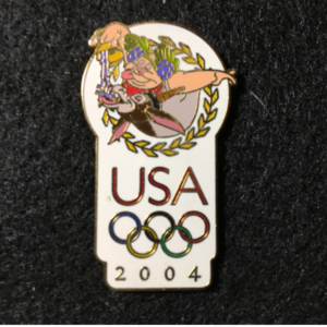 USA 2004 Olympic logo Bacchus pin