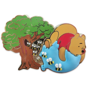 Winnie the Pooh floating on balloon - 55th anniversary pin