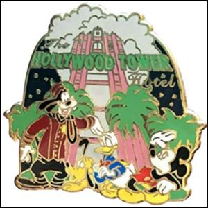 Tower of Terror - Walt Disney World Mystery Attractions pin