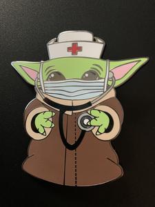 Nurse baby Yoda pin