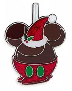 Santa Chocolate Apple pin