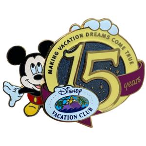 Disney Vacation Club 15 years pin