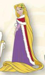 Rapunzel Christmas Cape pin