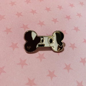 Patch - Hidden Mickey Dog Bone pin