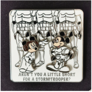 Star Wars - Stormtrooper Mickey and Princess Leia Minnie pin