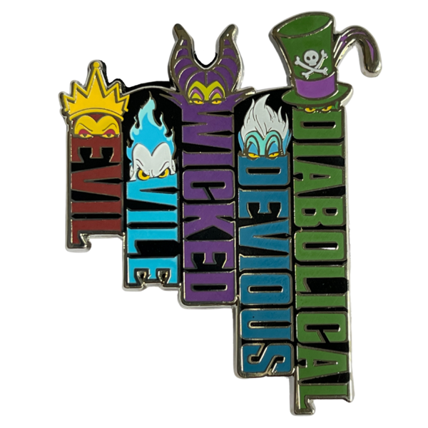 Evil, vile, wicked, devious, diabolical Pin