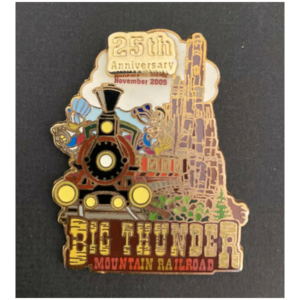 WDW - Big Thunder Mountain Railroad 25th Anniversary (Donald Duck and Goofy) pin