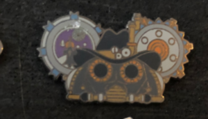 Steampunk clock  pin