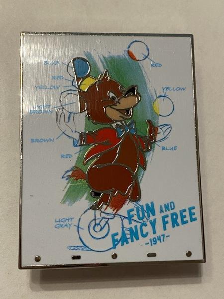 Fun and Fancy Free Bongo the Bear pin
