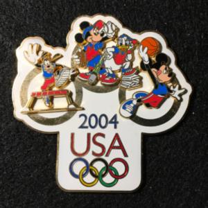 USA 2004 Olympic logo Jumbo Multi-sport  pin