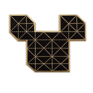 Gold and black isometric Mickey head pin