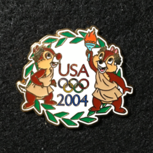 USA 2004 Olympic Cast Exclusive Chip & Dlae pin