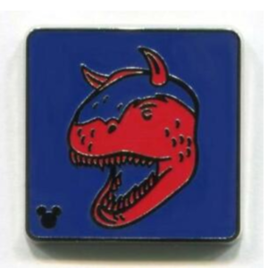 Dinosaur - Hidden Mickey Attraction Icons pin