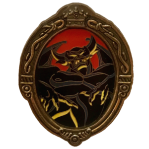 "Mirror Framed Villain - Chernabog from ""Night on Bald Mountain"" Fantasia pin"