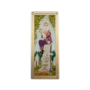 Old lady with rose haunted mansion portrait - Harveys pin