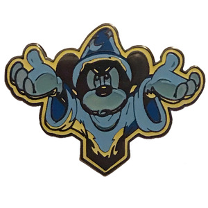 Fantasmic Baseball Hat with 4 Pin Set - Glow-in-the-Dark/Blue Sorcerer Mickey pin