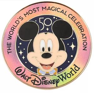 Mickey - 50th lanyard starter set - Walt Disney World 50th Anniversary pin