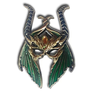 Maleficent Masquerade mask pin
