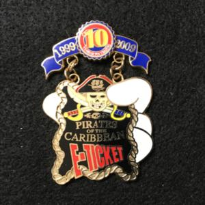 Pin Trading 10th Anniversary Tribute E-ticket pin