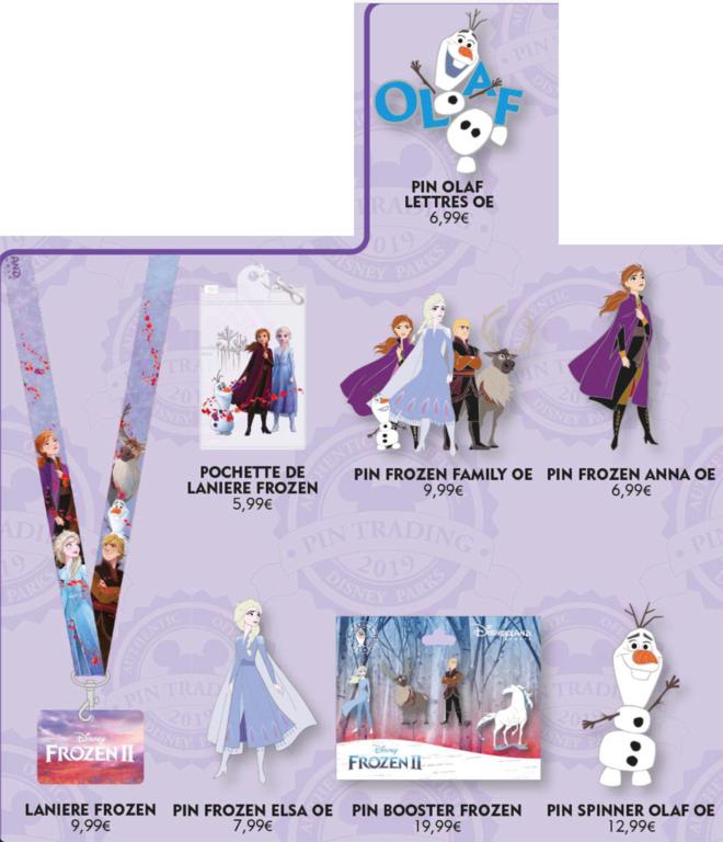 October 19th Frozen II pin releases