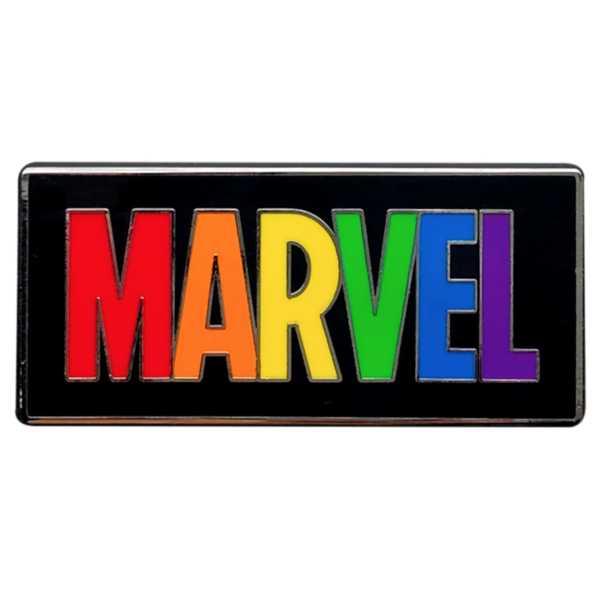 Marvel Logo Pin – Rainbow Marvel Collection Pin