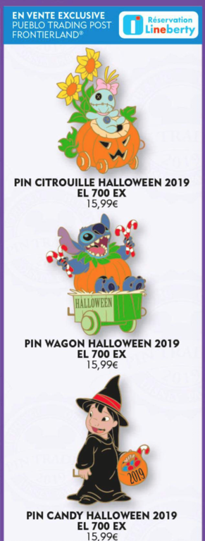 19th October limited edition Lilo and Stitch pin releases
