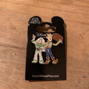 Woody and Buzz side by side pin
