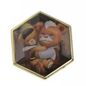 Biscotti and Zuccotto - UniBEARsity Pin Badge Set Crystal Art UniBEARsity 10th ANNIVERSARY pin