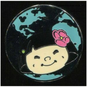 Asia - Hidden Mickey It's A Small World pin