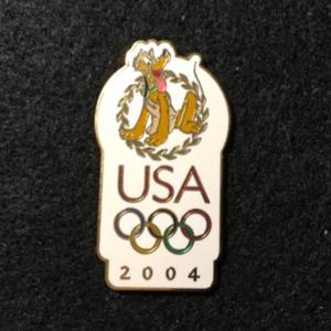 USA 2004 Olympic logo Pluto  pin