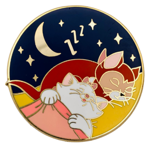 Marie and Dinah sleeping - Castle Creations and Co pin