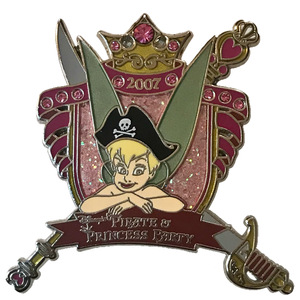 WDW - Pirate and Princess Party 2007 - Annual Passholder Exclusive - Tinker Bell Crest pin
