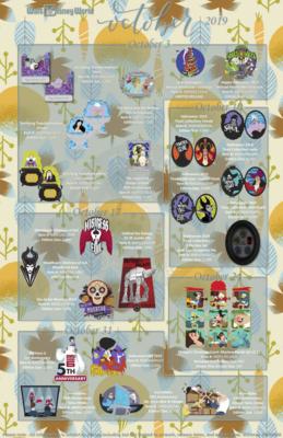 Walt Disney World Pin Releases October 2019