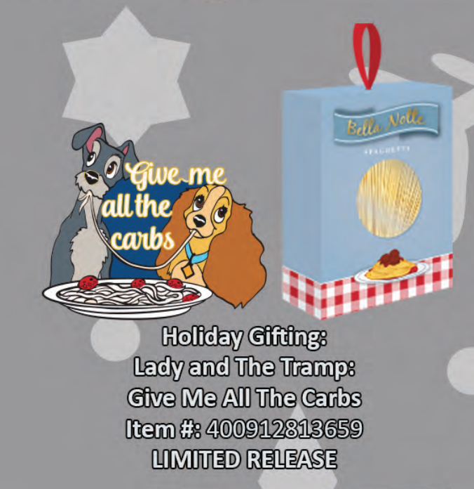 Lady and the Tramp: Give me all the carbs pin