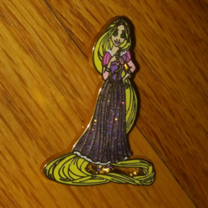 Rapunzel Glitter Skirt Pin pin