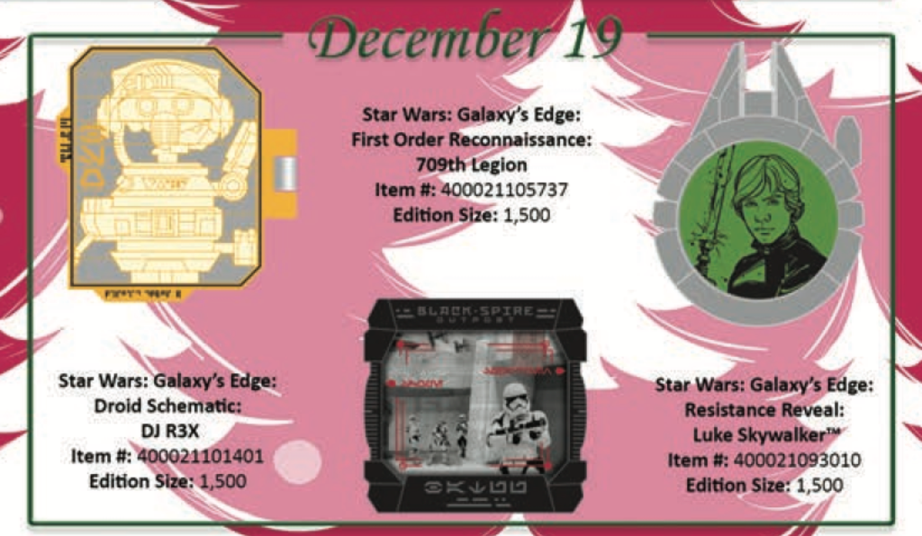 December 19th pin releases
