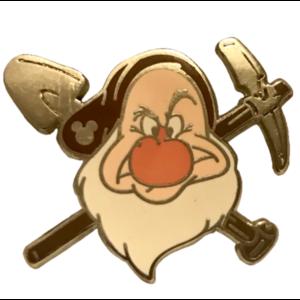 2014 Hidden Mickey Series - The Seven Dwarfs Head and Tools - Grumpy (4 of7) pin
