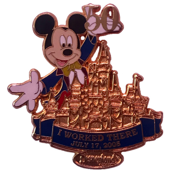 broche DLR - Cast Member Exclusive - Disneyland 50th Anniversary - Mickey: I Worked There