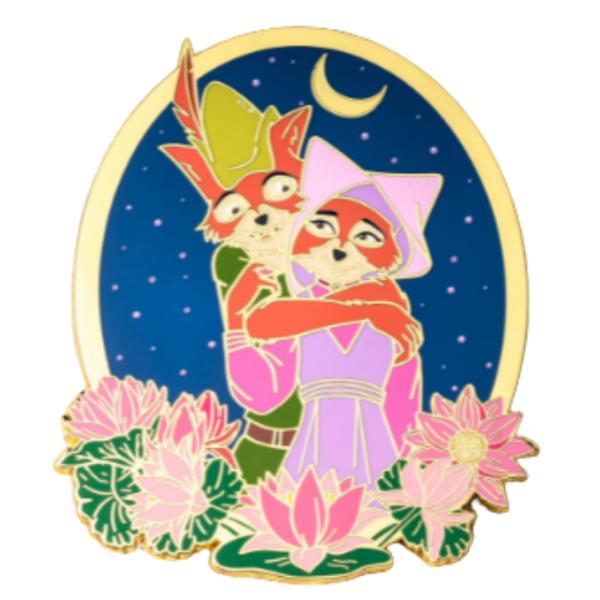 Love Goes On - Maid Marian and Robin Hood pin