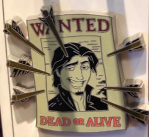 Flynn Rider Wanted Poster pin
