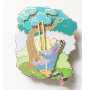 Disney Auctions Eeyore Tree Swing pin