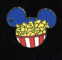DLR - 2015 Hidden Mickey Food series- Popcorn pin