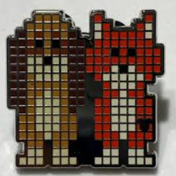 Copper and Tod - Hidden Mickey Pixels pin