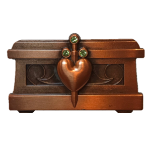 The Evil Queen's Heart Box pin