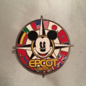 World Showcase Mickey Compass pin